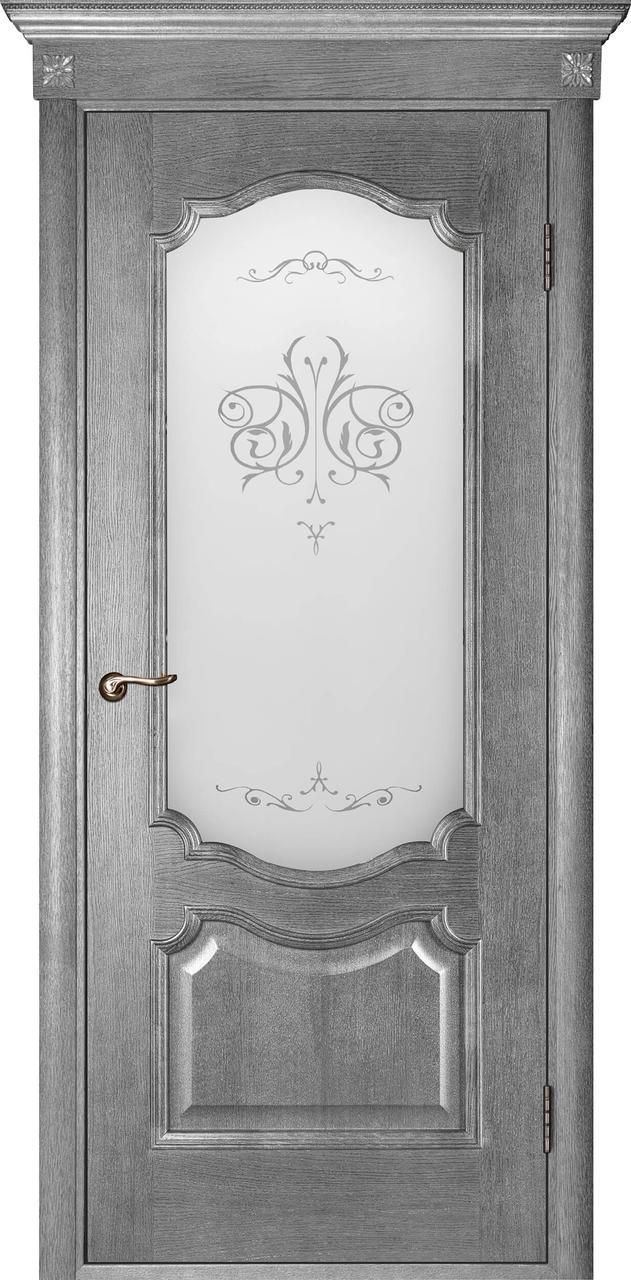Межкомнатная дверь Престиж серый ясень ПО