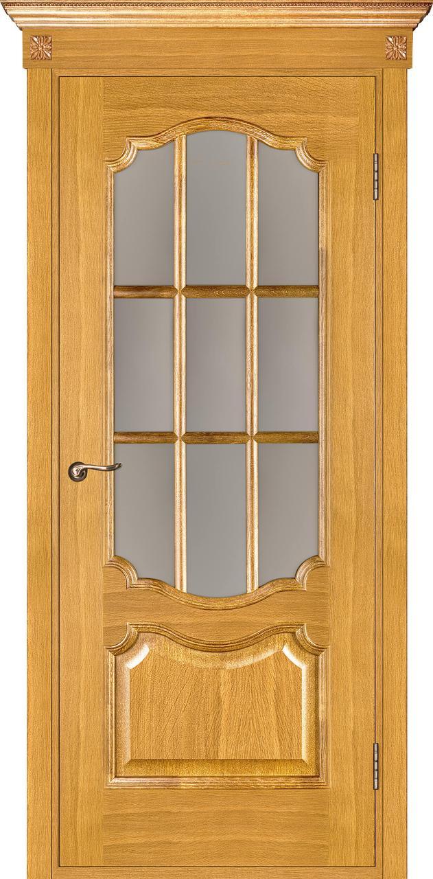Межкомнатная дверь Престиж дуб светлый ПО (с решеткой)
