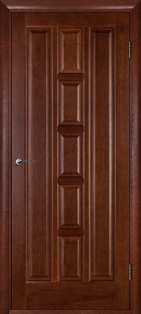 Межкомнатная дверь Квадро темный орех ПГ