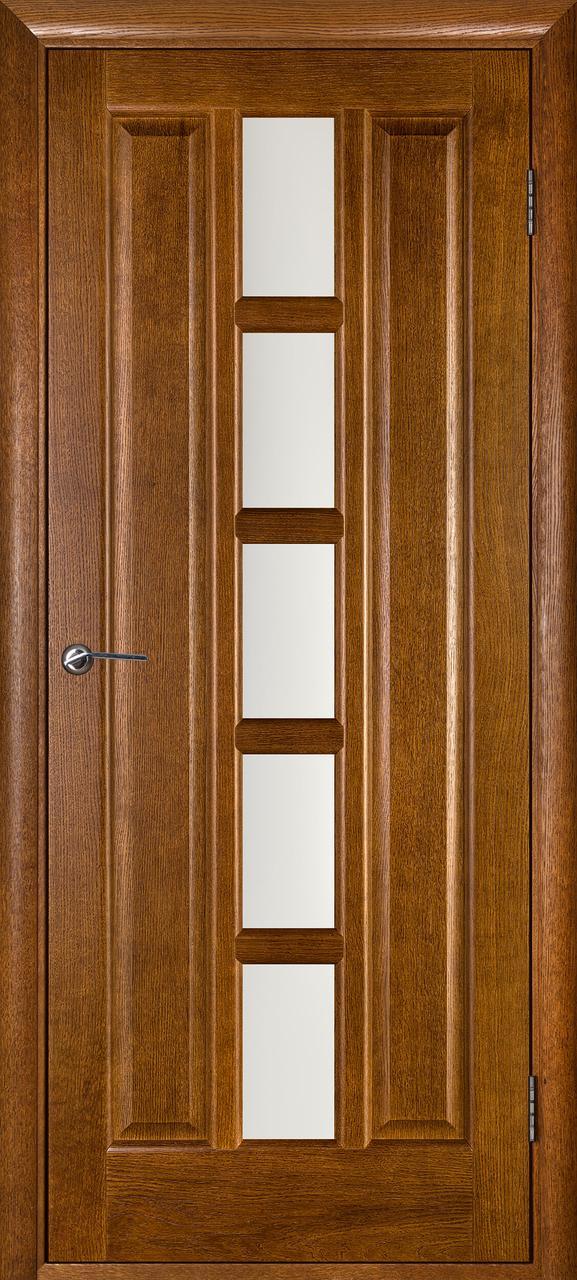 Межкомнатная дверь Квадро орех ПО