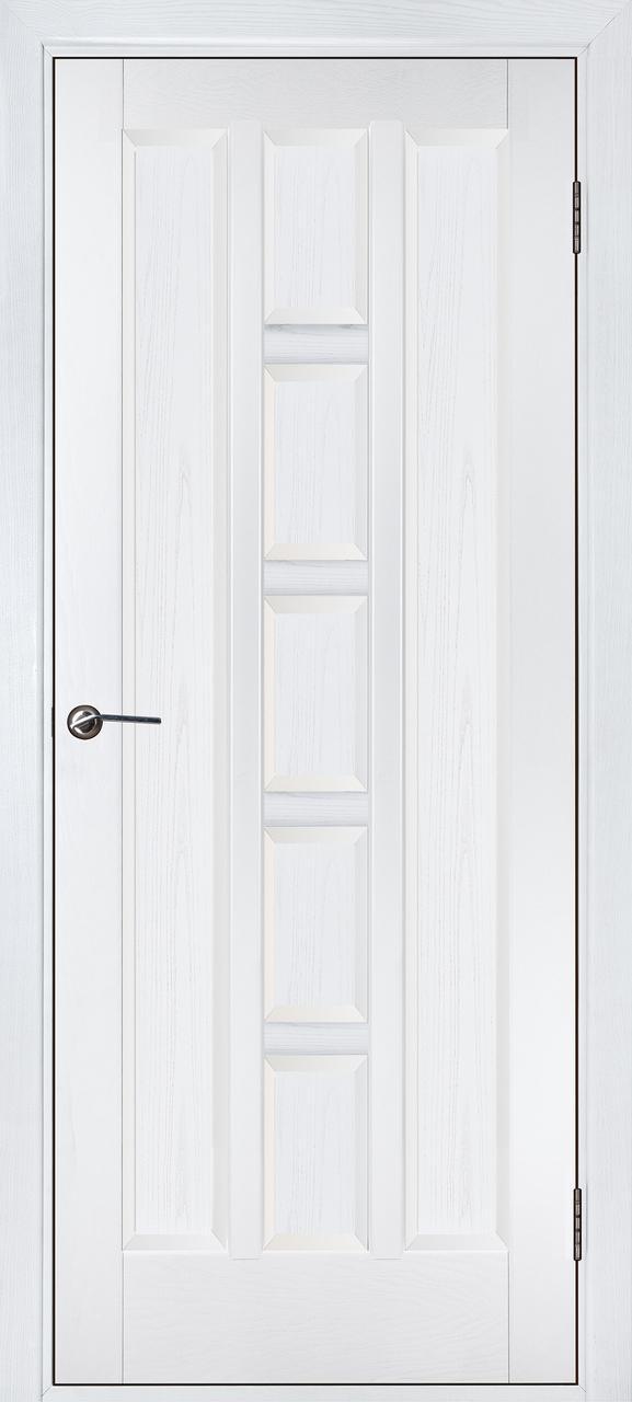 Межкомнатная дверь Квадро белый ясень ПГ