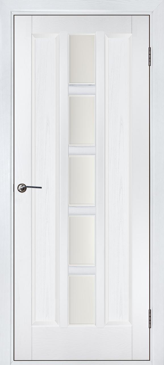 Міжкімнатні двері Квадро білий ясен ПО