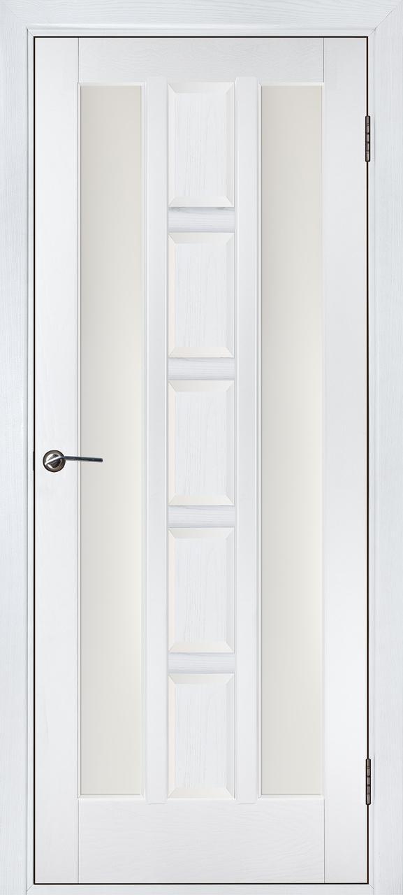 Межкомнатная дверь Квадро белый ясень ПОО