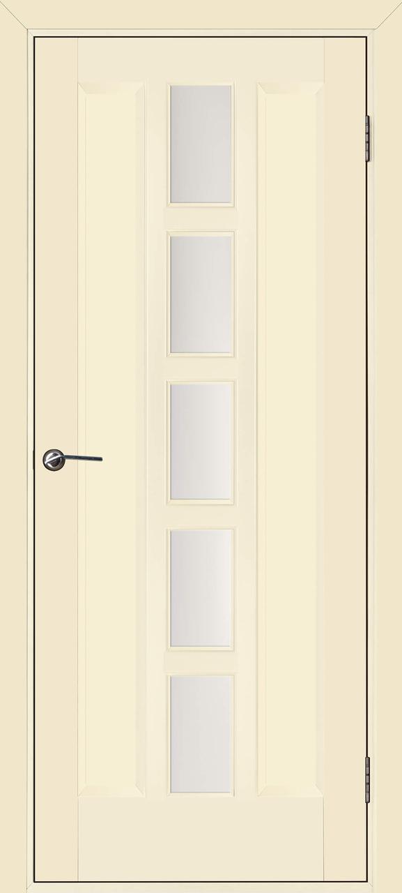 Межкомнатная дверь Квадро слоновая кость ПО