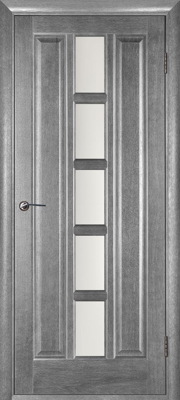 Межкомнатная дверь Квадро серый ясень ПО