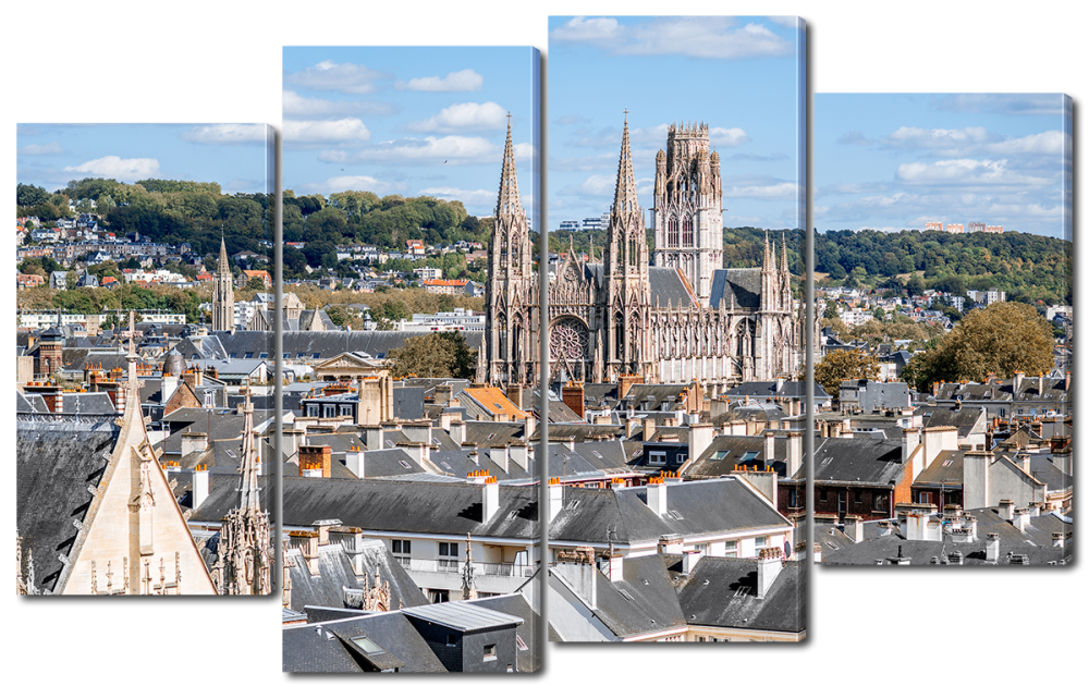 Модульная картина Руан, Город во Франции 126*80 см Код: W2245L