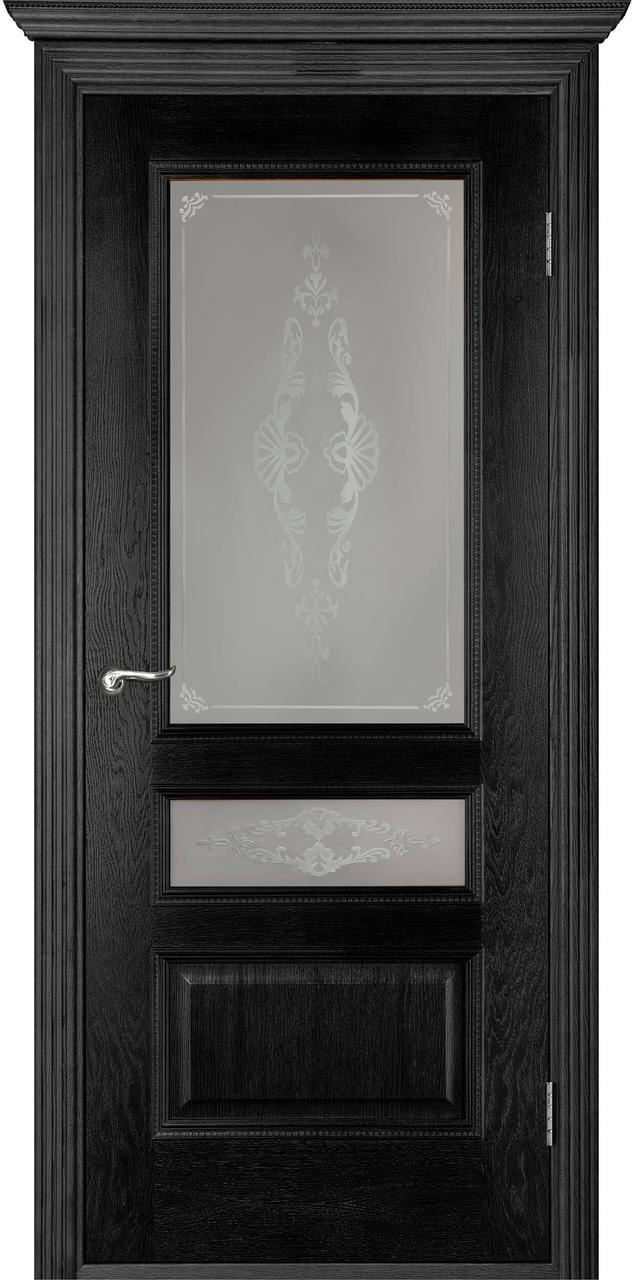 Межкомнатная дверь Вена черный ясень ПО