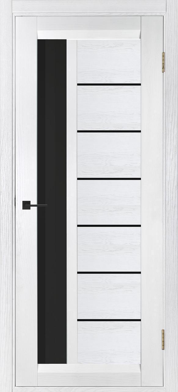 Межкомнатная дверь Дублин-М белый ясень