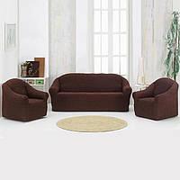 Накидка на диван Темно-Коричневая 170Х230