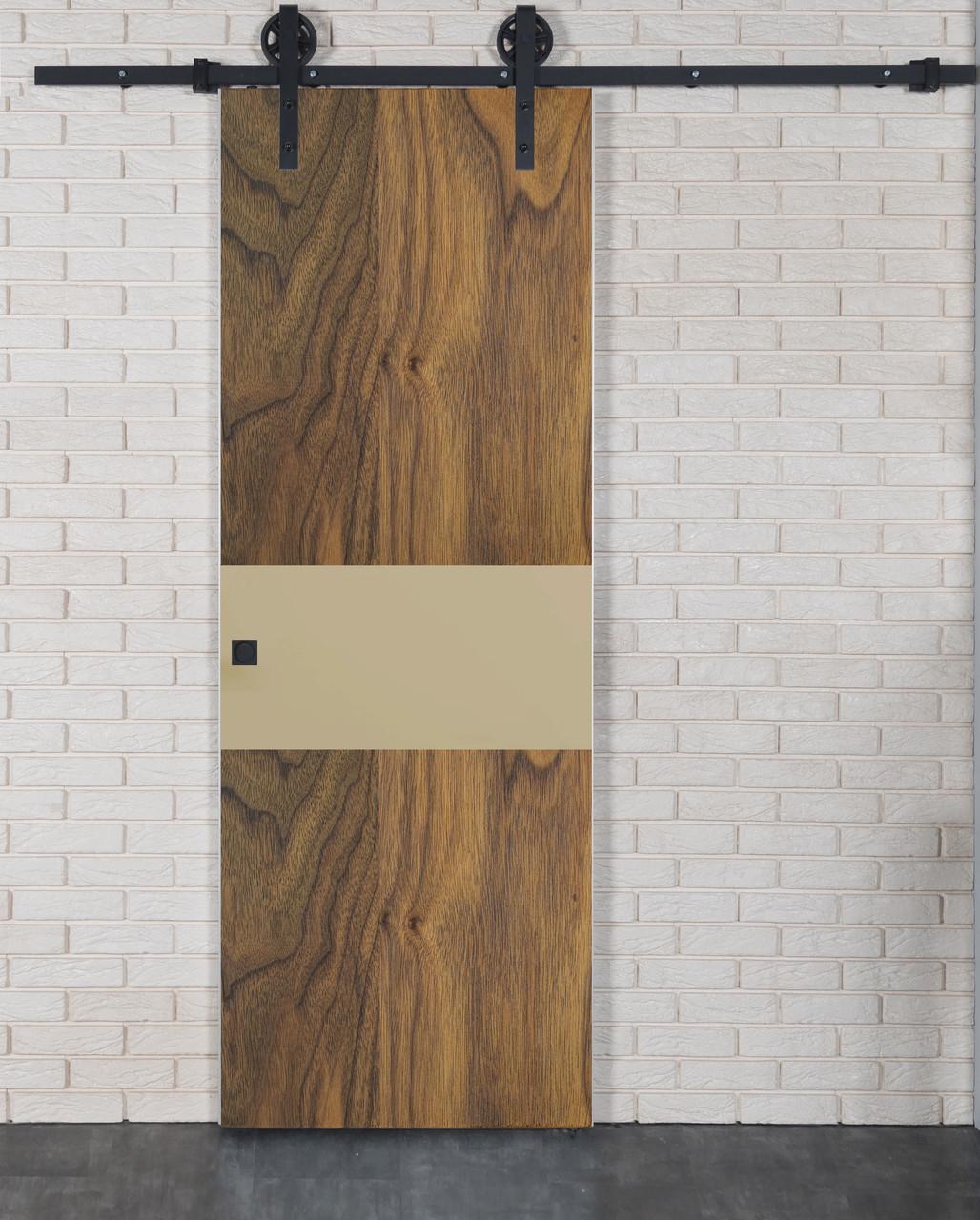 Межкомнатная дверь Флеш-Арт-HPL пластик американский орех