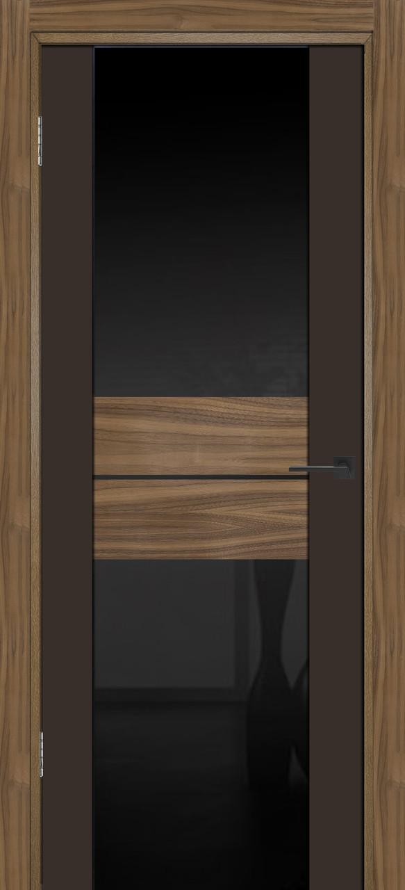 Межкомнатная дверь Тренд американский орех коричневая эмаль ПО