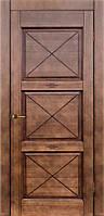 Межкомнатная дверь из массива ольхи Модель № 1 коньяк