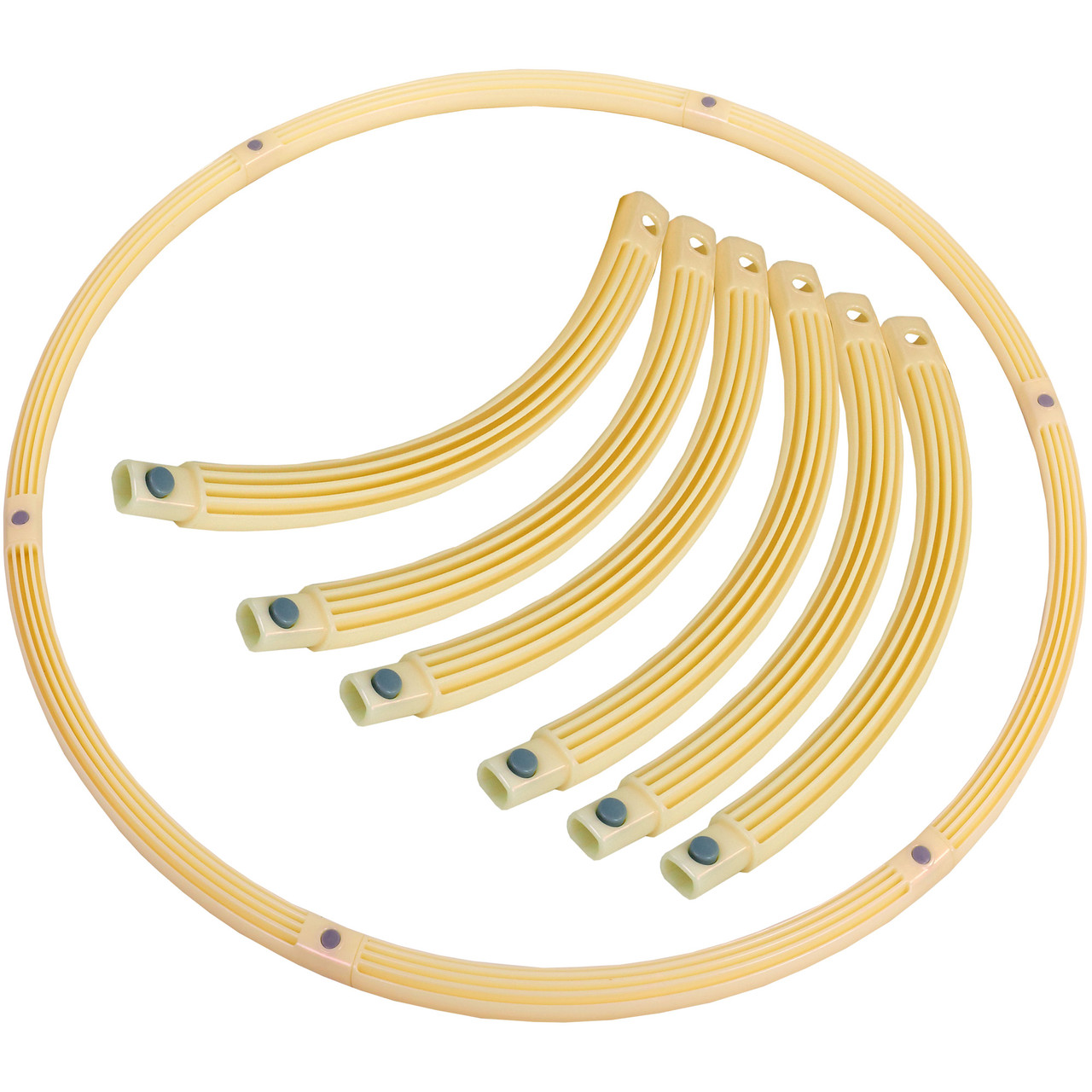 Обруч складной Хула Хуп Pro Supra Hula Hoop PEARL HU-LA HR-056 (1кг, пластик, 6 секций, d-90см)