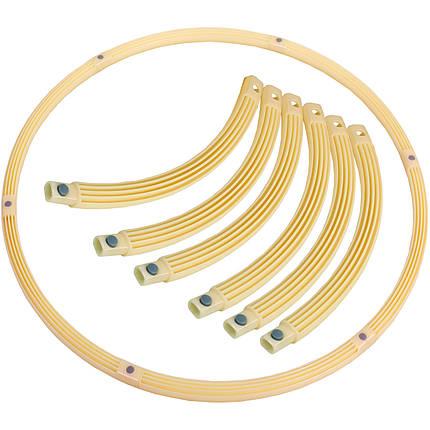 Обруч складной Хула Хуп Pro Supra Hula Hoop PEARL HU-LA HR-056 (1кг, пластик, 6 секций, d-90см), фото 2