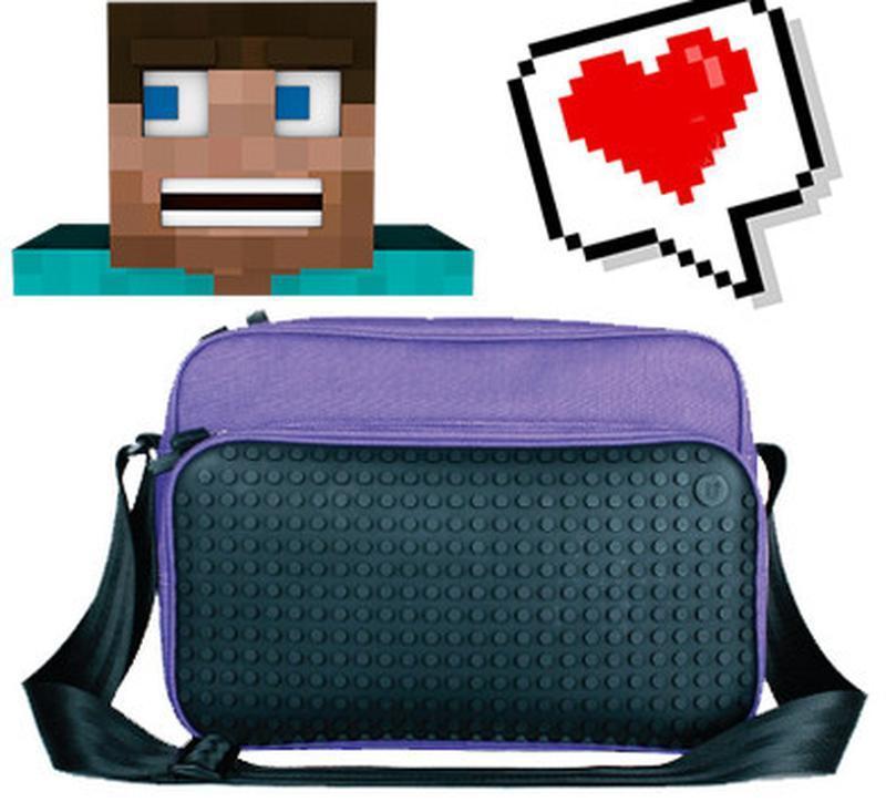 Яркая сумка с пикселями для школы Cross Upixel, пурпурная