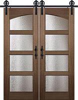 Амбарные выдвижные двери в стиле лофт из дерева