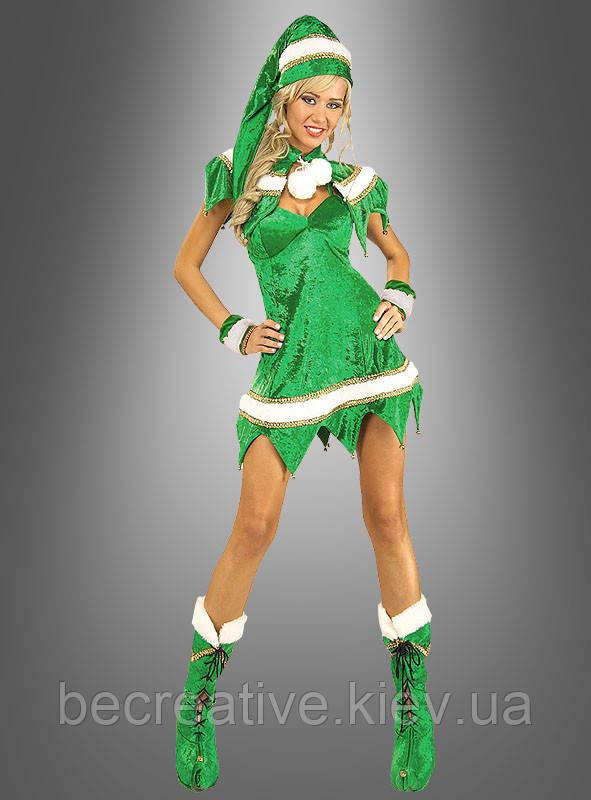 Женский карнавальный костюм рождественский эльф
