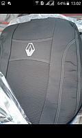 Чехлы на сиденья RENAULT MEGANE III 2014- задняя спинка закрытый тыл и сид 2/3 1/3; подлокотн; 5 подголовн;