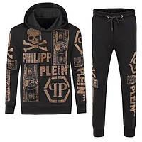 Мужской брендовый спортивный костюм Philipp Plein CK381 черный