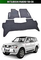 Коврики Mitsubishi Pajero '99-06. Текстильные автоковрики Митсубиси Паджеро Мицубиси, фото 1