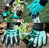 Садовые перчатки с пластиковыми наконечниками Garden gloves, фото 3