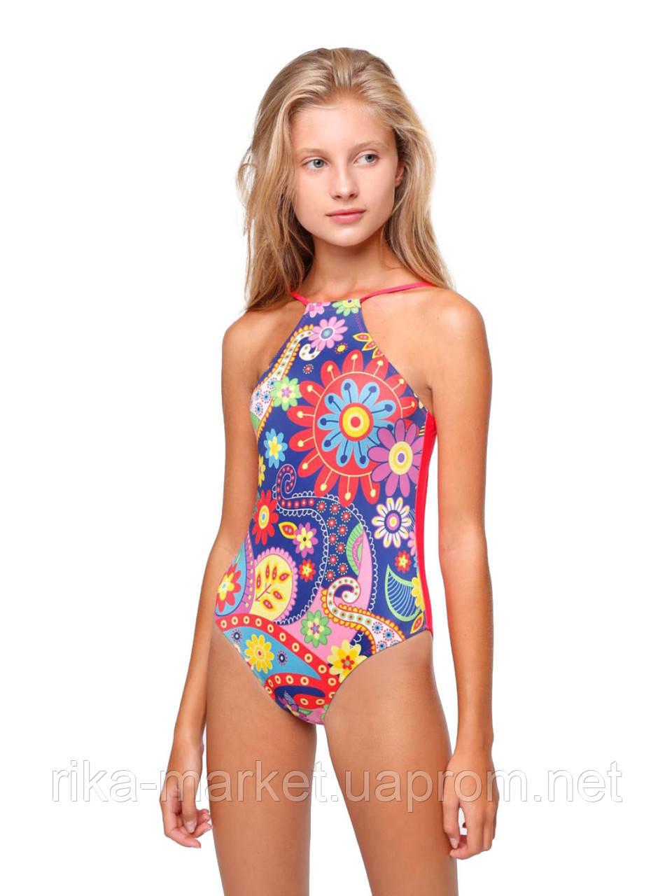 Сдельный купальник для девочки Keyzi, от 7 до 11 лет, Folk