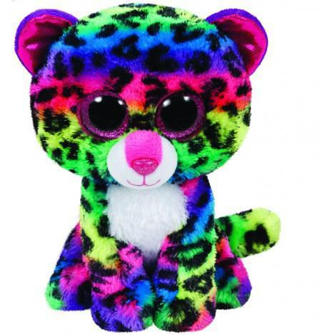 "Детская мягкая игрушка Разноцветный леопард ""Dotty"" TY Beanie Boo's, 15 см"