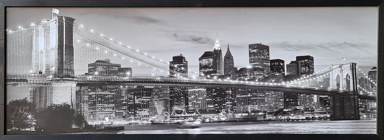 """Фотокартина в деревянной раме """"Bridge 5"""", 35х100 см"""