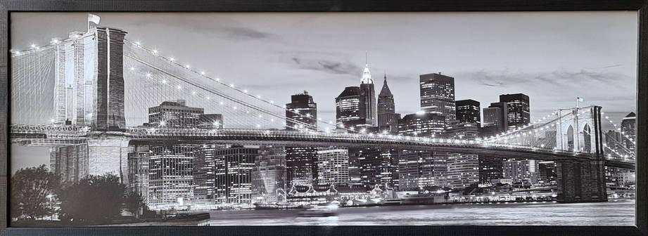 """Фотокартина в деревянной раме """"Bridge 5"""", 35х100 см, фото 2"""
