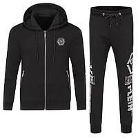 Мужской брендовый спортивный костюм Philipp Plein CK382 черный