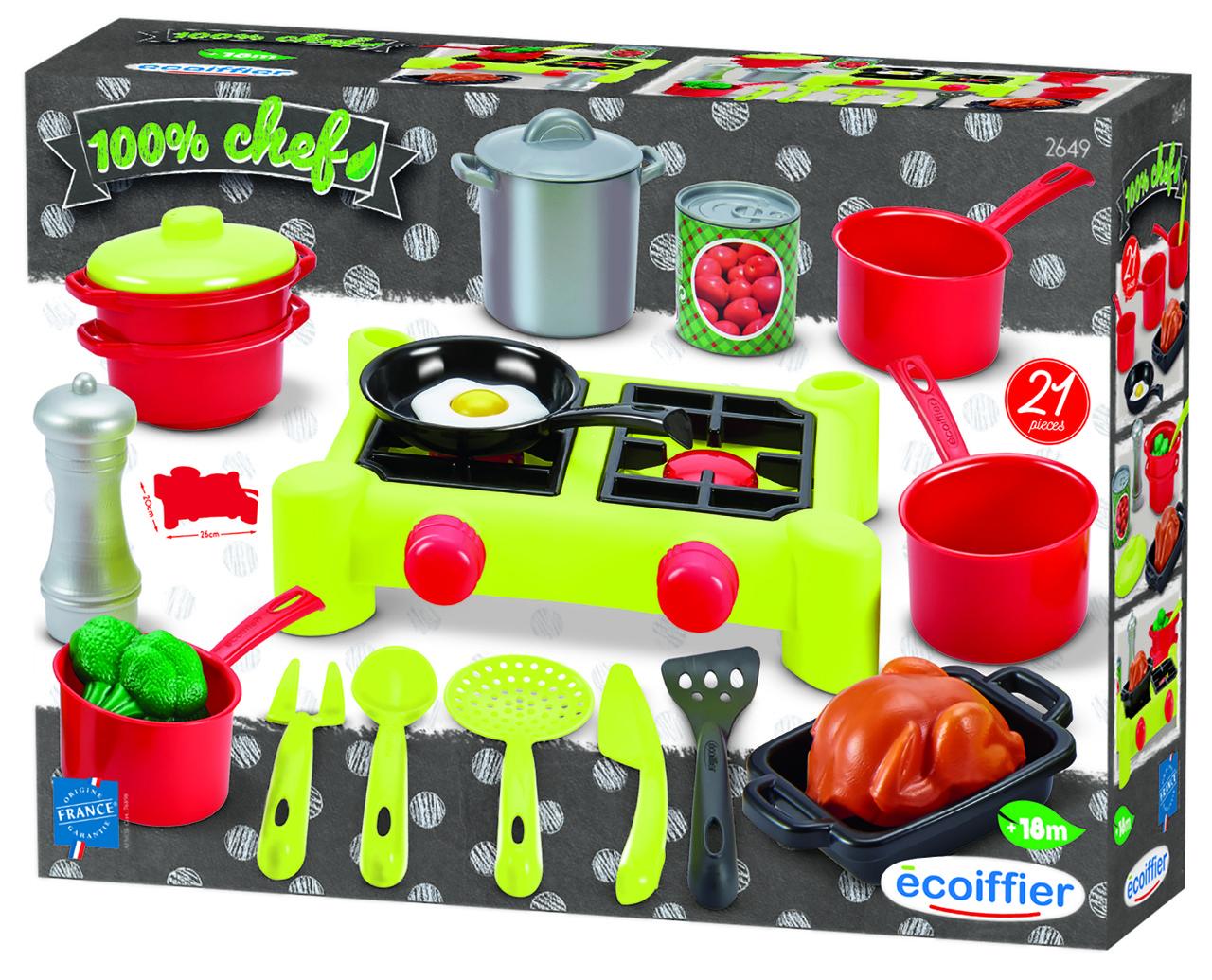 Игровой набор Ecoiffier Плита и посудка (002649)