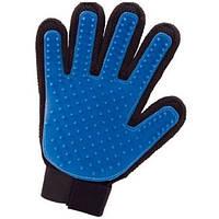 Перчатка для вычесывания шерсти правая