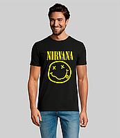 Мужская футболка. Качественная мужская футболка с принтом. Nirvana. Нирвана