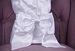 Літній комплект для новонародженого хлопчика на виписку Ангел + Фрак New білий, фото 3