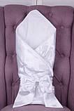 Літній комплект для новонародженого хлопчика на виписку Ангел + Фрак New білий, фото 2