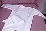 Літній комплект для новонародженого хлопчика на виписку Ангел + Фрак New білий, фото 6
