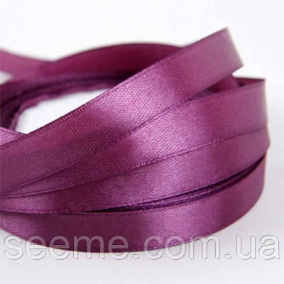 Лента атласная, 12 мм, цвет розово-лиловый