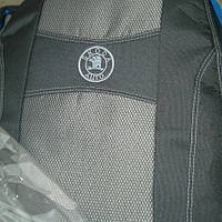 Чехлы на сиденья SKODA OCTAVIA III А7 2013- задняя спинка закрытый тыл 2/3 1/3; подлокотн; 5 подг; пер / подл;