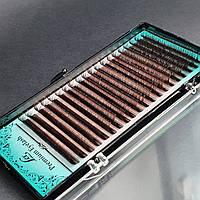 Шоколадные ресницы LEX (mix) D, 0.07, 6-9
