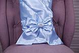 Летний комплект для новорожденного мальчика на выписку Ангел+Фрак New голубой, фото 3