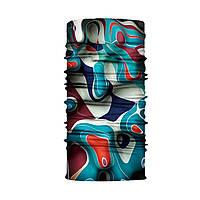 """Бафф унисекс универсальный """"Jungle"""" разноцветный с абстрактным принтом, фото 1"""