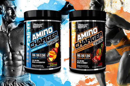 Аминокислоты + энергия Amino Charger + Energy Nutrex 321 грамм, фото 2