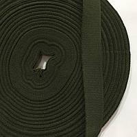 Репсова стрічка саржева 2927 хакі 20мм (боб.50м)