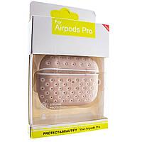 Силиконовый чехол Aare для наушников AirPods Pro Розовый-Белый (00007694)