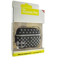Силиконовый чехол Aare для наушников AirPods Pro Черный-Серый (00007694)