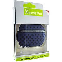 Силиконовый чехол Aare для наушников AirPods Pro Синий-Черный (00007694)