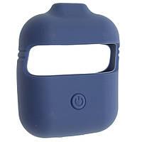 Чехол силиконовый Aare с ремешками для наушников AirPods/AirPods 2 Королевский Синий (00007696)