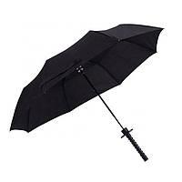 Зонт катана с красной ручкой