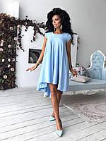 Шикарное летнее асимметричное платье в расцветках. Летнее легкое платье свободного асимметричного кроя.  Шикарное женское ассиметричное платье