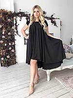 Шикарное летнее асимметричное платье в расцветках Большого размера. Летнее легкое платье свободного ассиметричного кроя Большого размера.  Шикарное